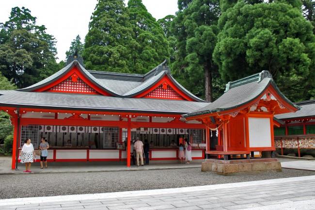 Omikuji shop at Kirishima Jingu Shrine.