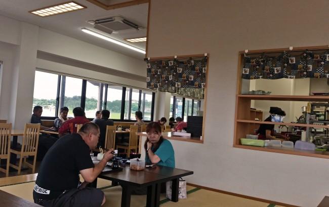 Tatami seating at the soba noodles restaurant.