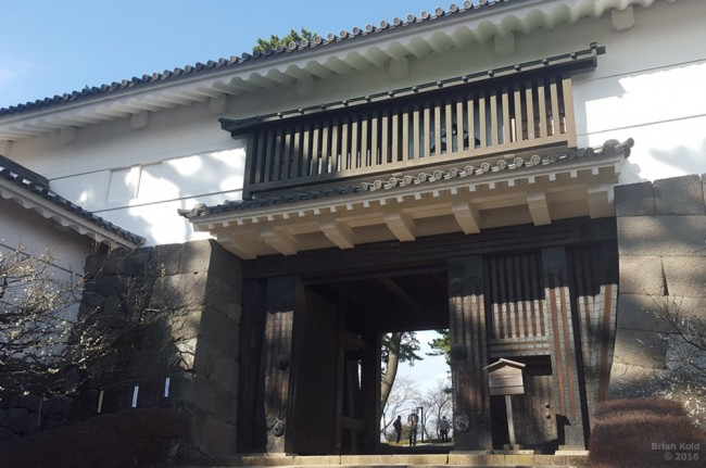 entrance of Odawara Castle and architecture in Japan