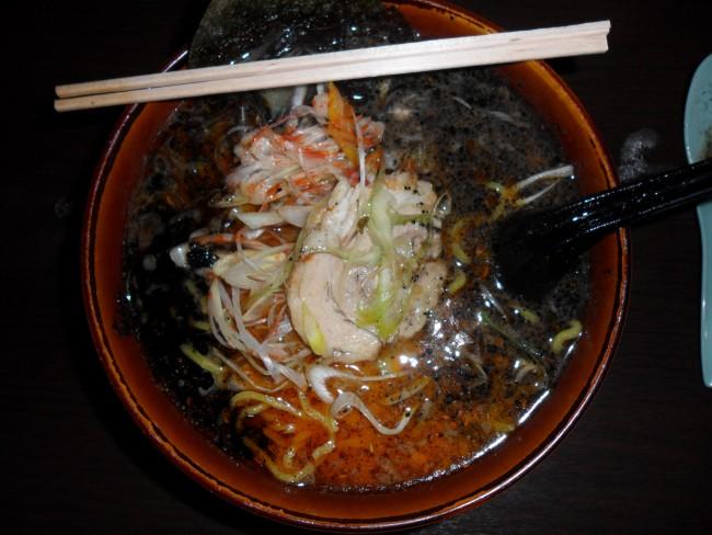 Black Pork Ramen from Yukuhashi ramen restaurant in Fukuoka