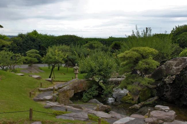 Sengan-en in Kagoshima at a stone garden one can walk through.