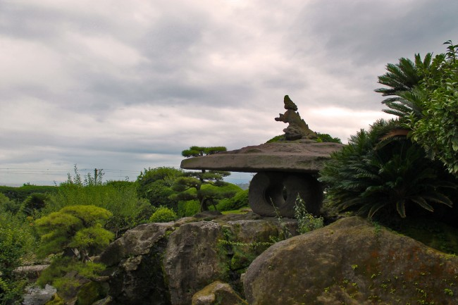 More of the stone garden at Sengan-en in Kagoshima.