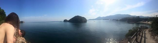 Circumsribed trail of Sensuijima island