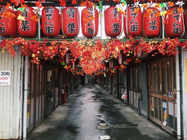 for famous oden in Shizuoka Japan, Aoba dden Alley is the place