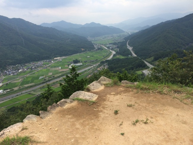 Takeda castle ruins, hiking route Hyogo prefecture