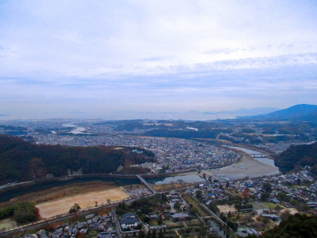 View from Iwakuni Castle's Observatory Deck