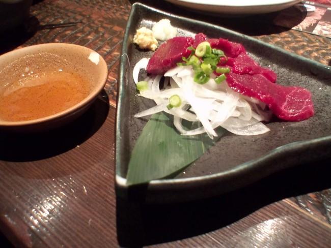 Horse sashimi, a Kyushu delicacy
