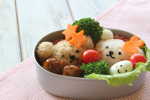 Kyaraben is also a bento box set arranged to resemble popular cartoon or manga characters