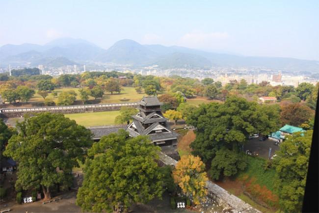 Kumamoto Castle ariel view