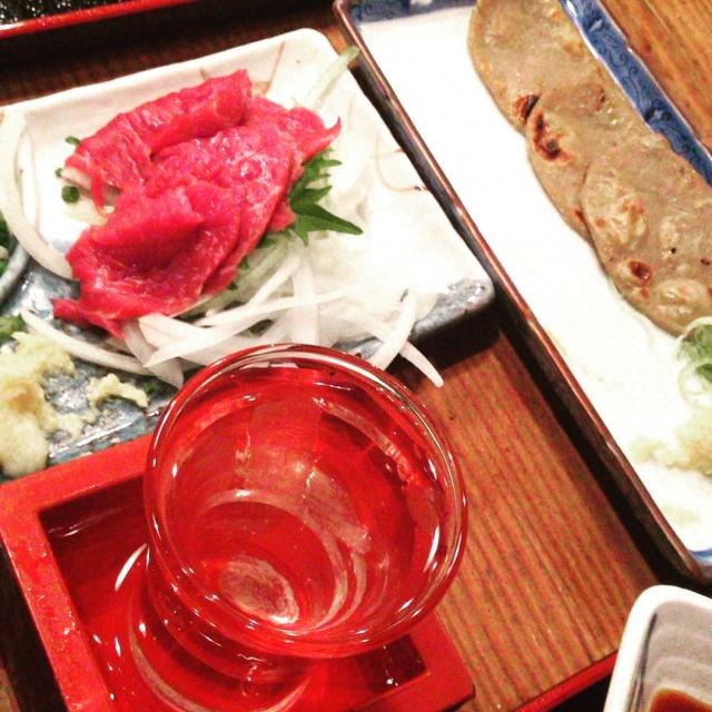 Famous Kyushu dish, sashimi in kumamoto