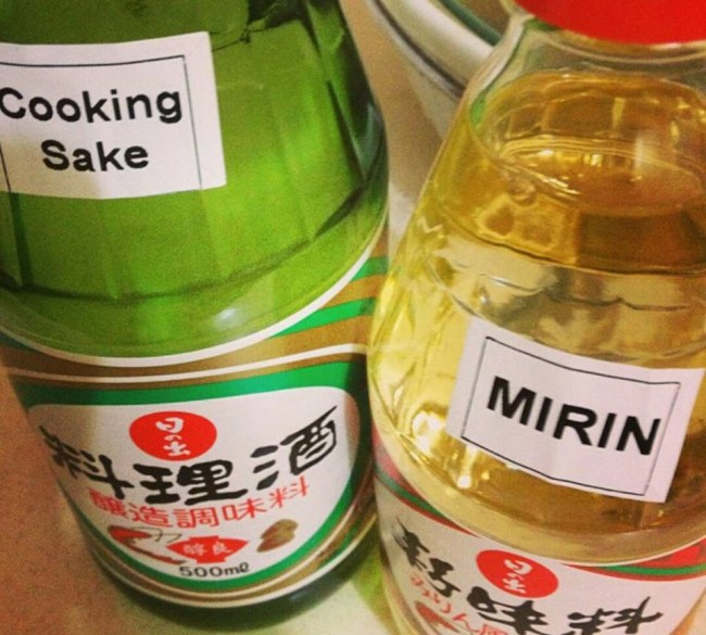 Japanese use either cooking sake or mirin sake for almost every recipe