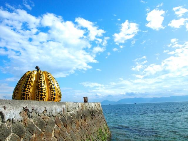 art installation on Naoshima island