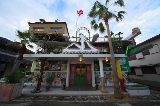 Sento or bathhouse in Miyanoura port, Naoshima island