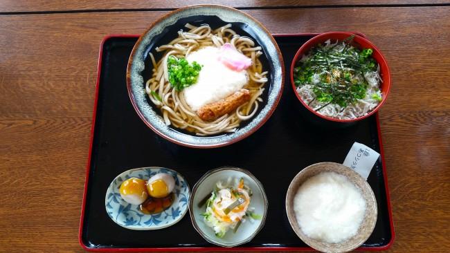 The soba teishoku at the soba noodles restaurant.