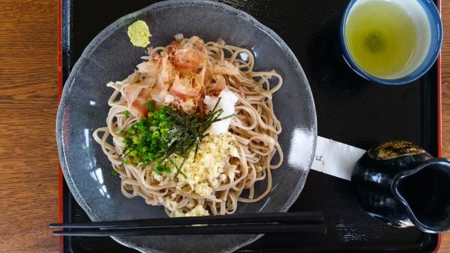Kake soba set at the soba noodles restaurant.