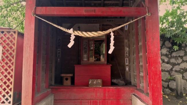 Shrine related building on the island of Sakurajima.