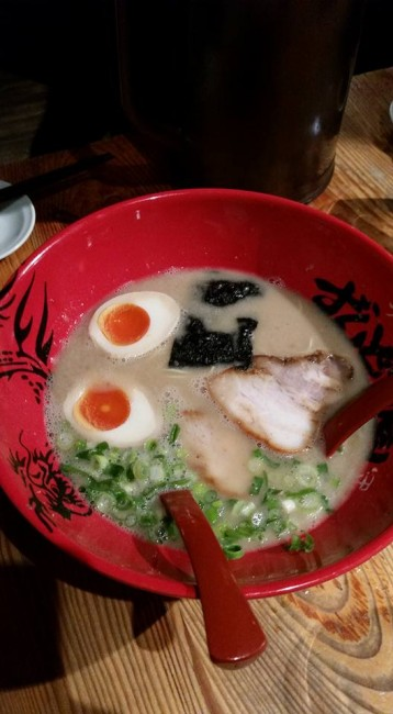 Zundouya Ramen restaurant, tonkotsu ramen
