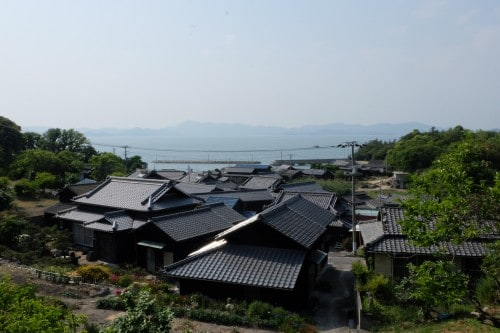Unlikely setting for an art festival, an example among the Triennale islands, Seto Inland Sea