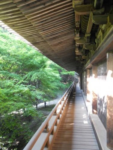 veranda looking out to beautiful nature in Engyo-ji in Shosha