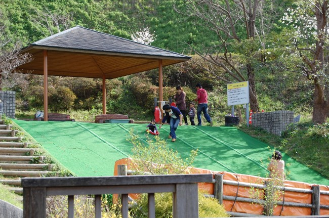 gentle slide for kids on Nakao mountain