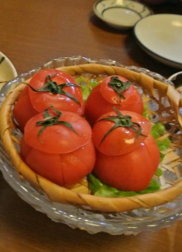Tomato dish to go with the katsuo no tataki.