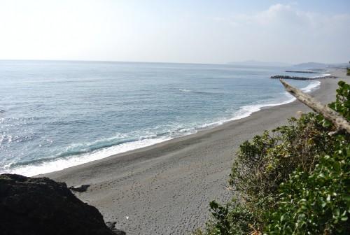 Katsurahama beach near the water and sand in Kochi.