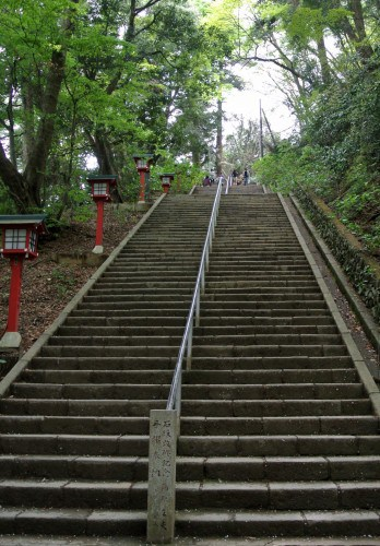 Long stairs to the temple, Mt.Takao