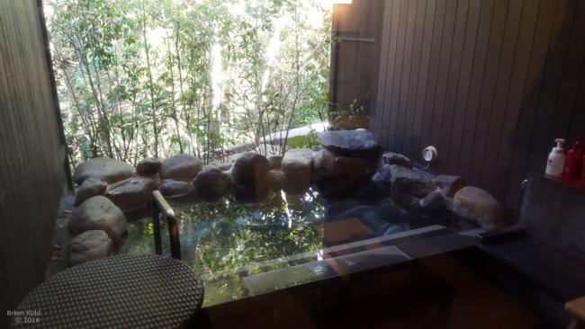 Onsen bathing, Yuryo hot springs onsen bath, Hakone