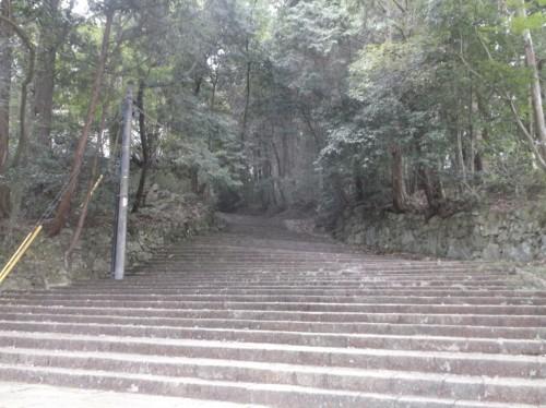 lush trees and stairs to Hiei, home to Enryaku-ji Temple