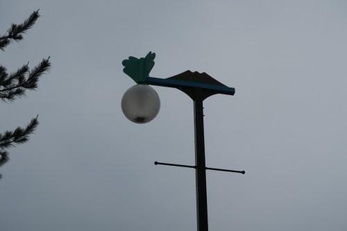 Sakurajima visitor center lamppost