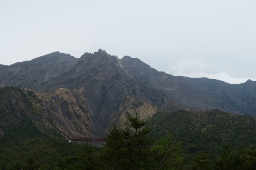 view of volcano from Sakurajima Yunohira observatory