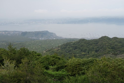 Sakurajima observatory and the surrounding view