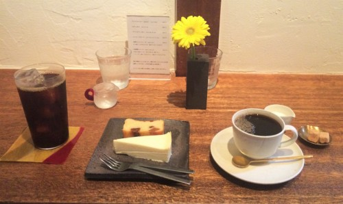 coffee and cake in cafe in Kamakura