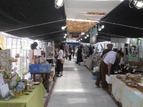 shoppers in a Kurashiki market in Okayama, Japan
