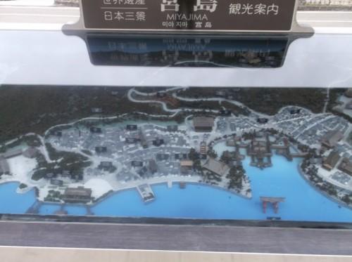 Miyajima Island map, full of shrines