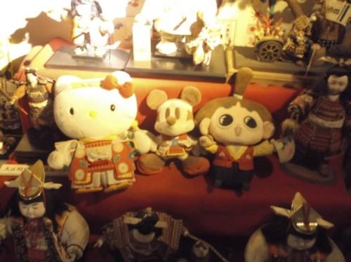 stuffed animals in Momotaro Museum in Okayama