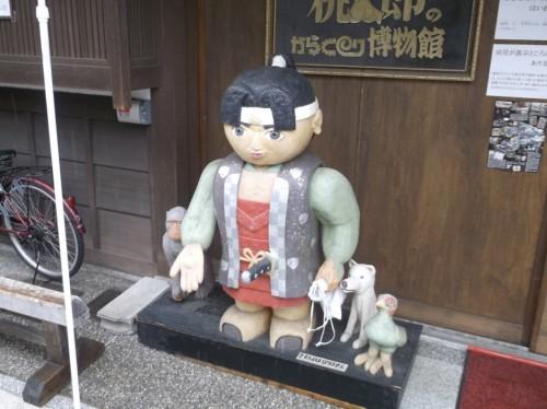 statue in Momotaro Museum in Okayama