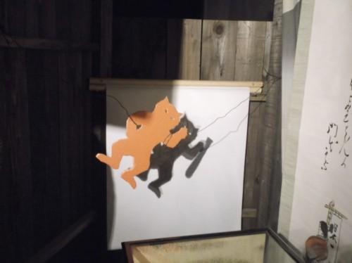 demon figure in Momotaro Museum in Okayama