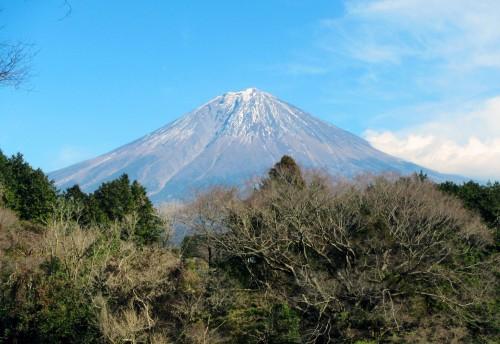 A nice view of the mountain of Fuji in Fujinomiya.