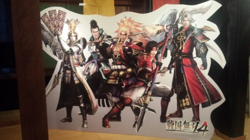 Samurai Warriors cutout display in Odawara castle, significant for the Shogun period in Shizuoka