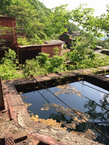 An abandoned ocher factory in Okayama.