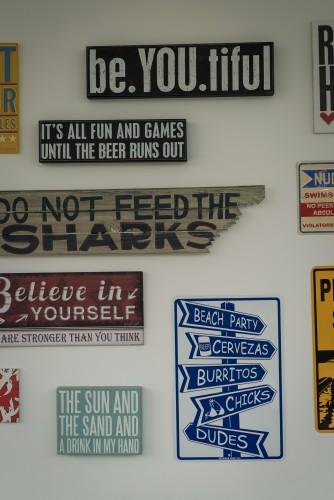 Random signs at Copen Local Base.