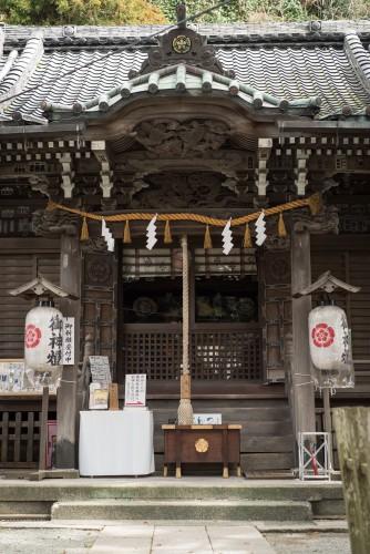 Shrine near Gionyama hiking course in Kamakura.