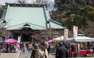 Komyoji, temple, Buddhism, Buddhist, Kamakura, Kanagawa, flea market