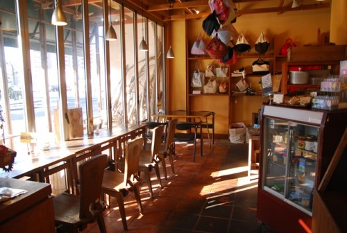 Interior of a cafe in Okayama