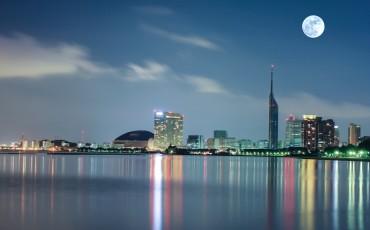 seaside,waterfront,Fukuoka,Momochi,dome,tower,bay