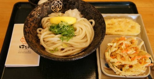 Japanese Udon dish at Hanamaru Udon.