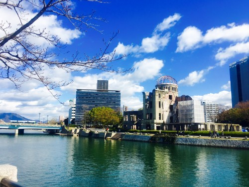 A snapshot set through history, nearby Hiroshima Castle