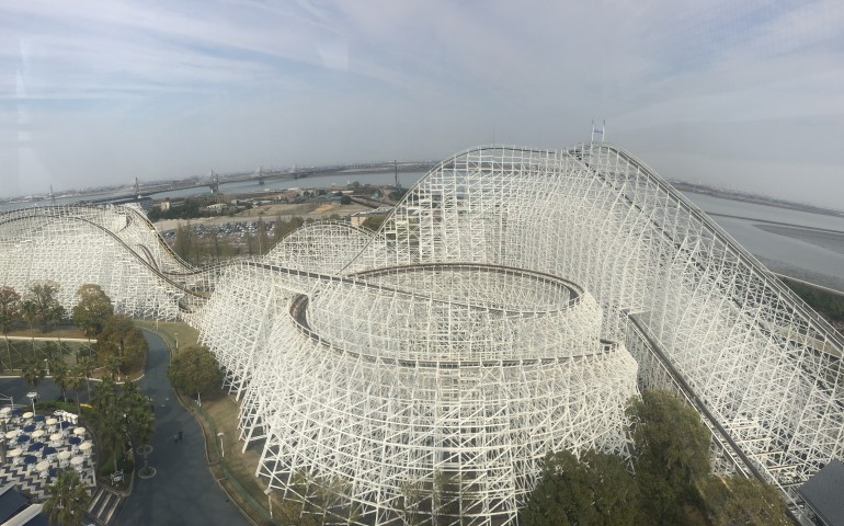 White Cyclone, roller coaster, Nagashima Spa Land, Kuwano, Mie, amusement part