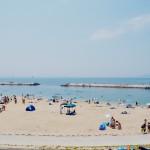Seaside life at the beach in Matsuyama